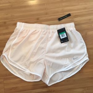 Women's Nike Dri-Fit XL cream running shorts
